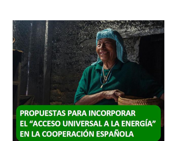 Portada de las propuestas de la Mesa de Acceso Universal a la Energía a la Cooperación Española