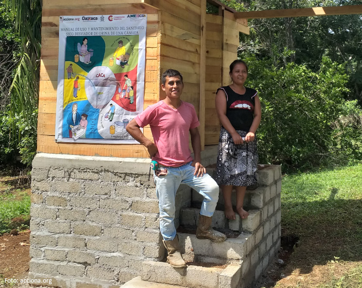 Access to drinking water and appropriate sanitation for more than 100 households in Oaxaca